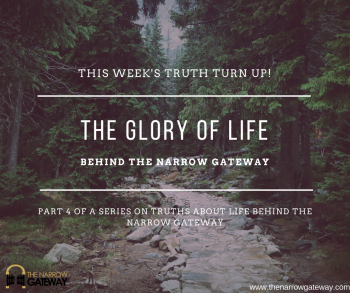 the glory of life behind the narrow gateway