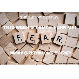 WHEN A CHRIST FOLLOWER IS AFRAID