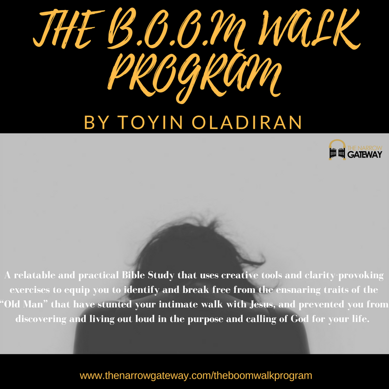 The B.O.O.M Walk Program by Toyin Oladiran