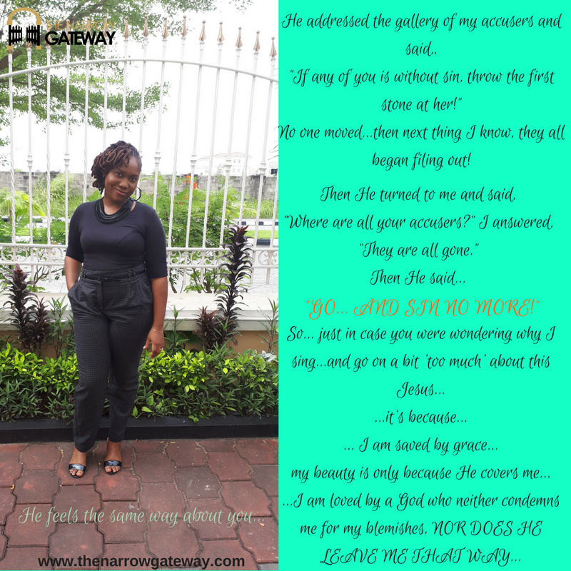 Toyin: He addressed the gallery of my accusers and said, If any of you is without sin, throw the first stone at her!