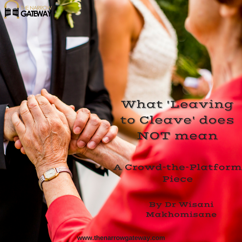 What 'Leaving to Cleave' does NOT mean-with words